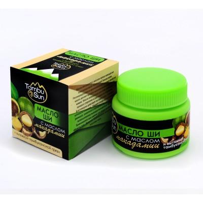 Масло ши с маслом макадами Tambusun. Пластик 50 мл.