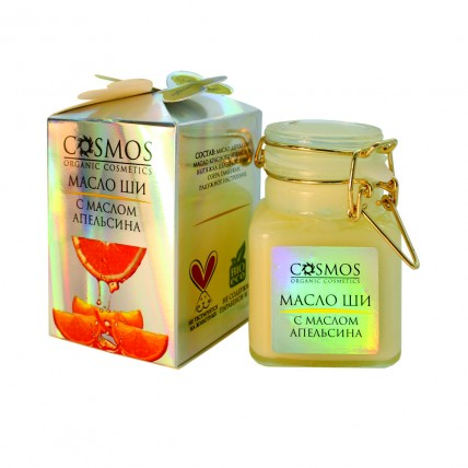 "Масло Ши с маслом апельсина ""COSMOS"" 100 гр."