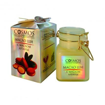 """Масло ши с маслом арганы """"COSMOS"""" 100 гр."""