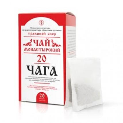 """Чай монастырский №20, """"Чага"""", 20 фильтр-пакетов, """"Солох-аул"""""""